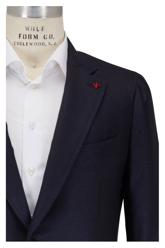 Isaia Navy Cashmere & Silk Sportcoat