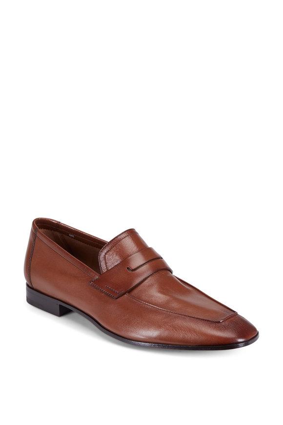 Berluti Incrociato Tobacco Leather Loafer