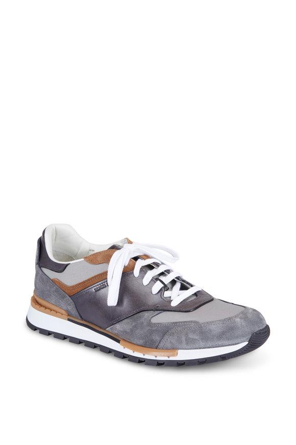 Berluti Run Track Grey Torino Suede Sneaker