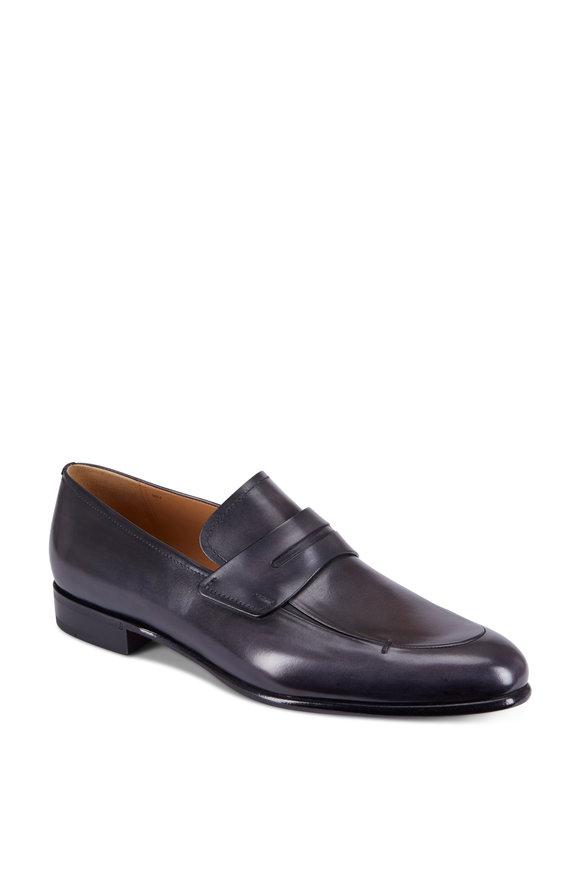 Berluti Venezia Deep Black Leather Loafer