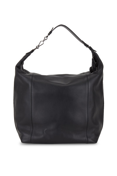 Bottega Veneta - Black Leather Large Hobo Bag
