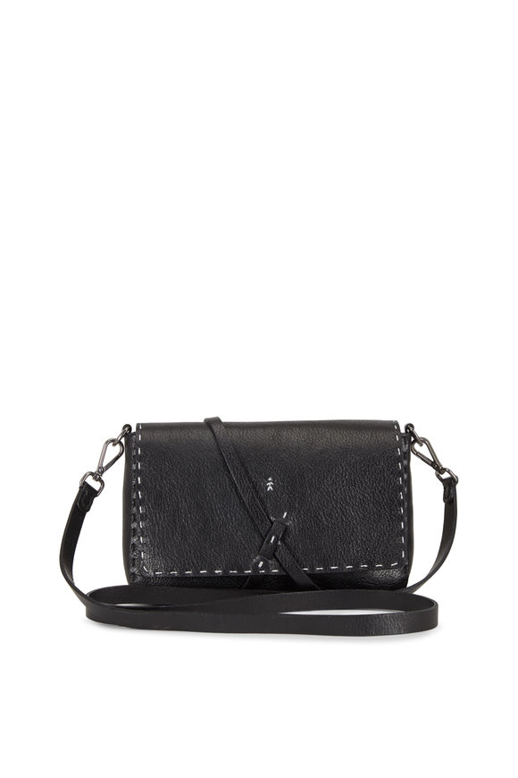 Henry Beguelin Dolce Black Leather Small Crossbody