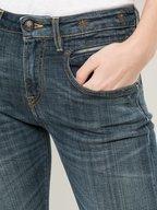 R13 - Biker Boy Medium Wash Zip Pocket Jean
