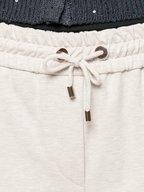 Brunello Cucinelli - Oyster Drawstring Monili Detail Spa Pant