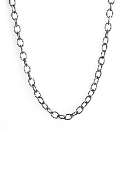 Syna - Blackend Sterling Silver Oval Link Chain