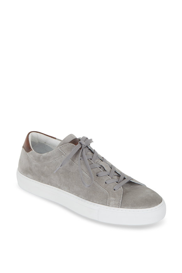 To Boot New York Pacer Light Gray Suede Sneaker