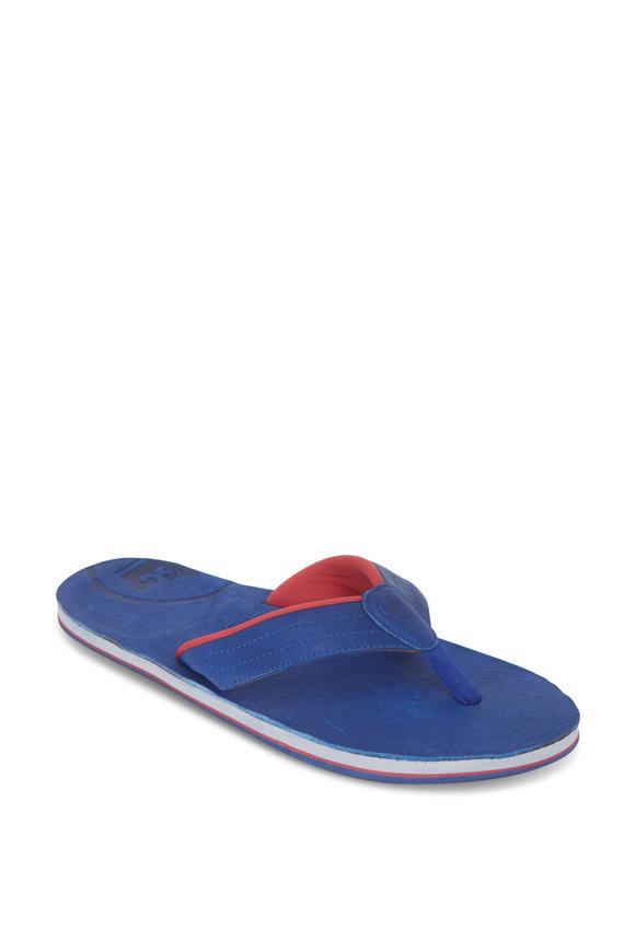 Peter Millar Limited Edition X Hari Mari Sail Blue Flip Flops