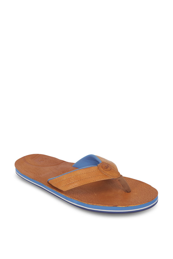 Peter Millar Limited Edition X Hari Mari Whiskey Flip Flops