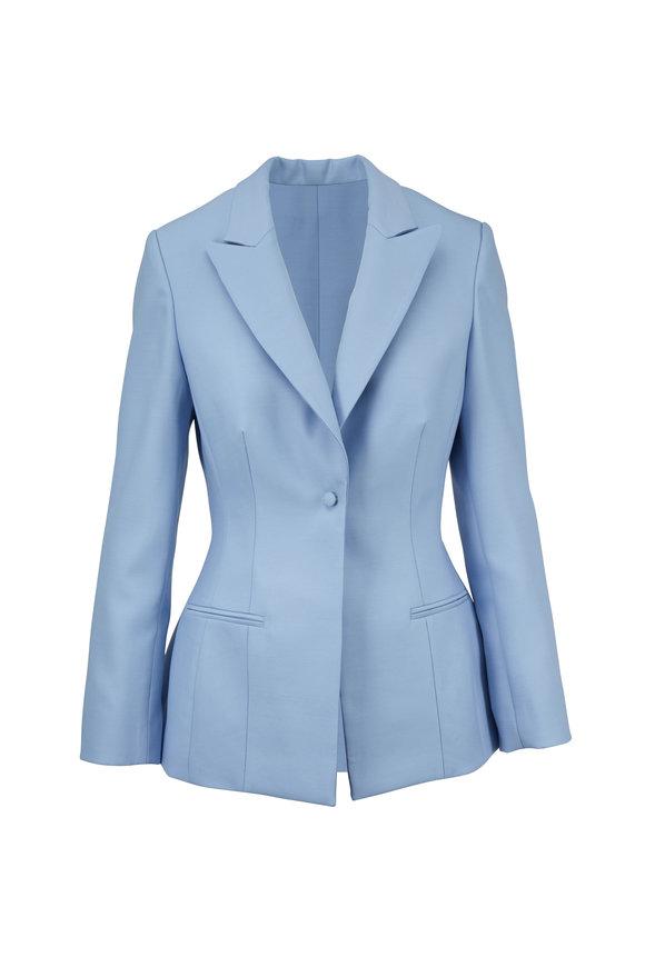 Partow Pale Blue Single Button Blazer