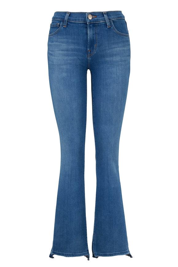 J Brand Sallie Mid-Rise Step Hem Bootcut Jean
