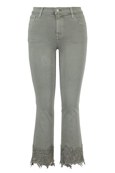 J Brand - Selena Mid-Rise Lace Hem Crop Boot Jean