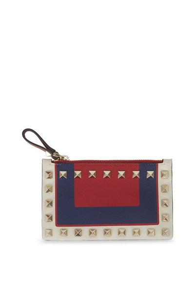 Valentino Garavani - Rockstud Multi-Color Leather Card Case