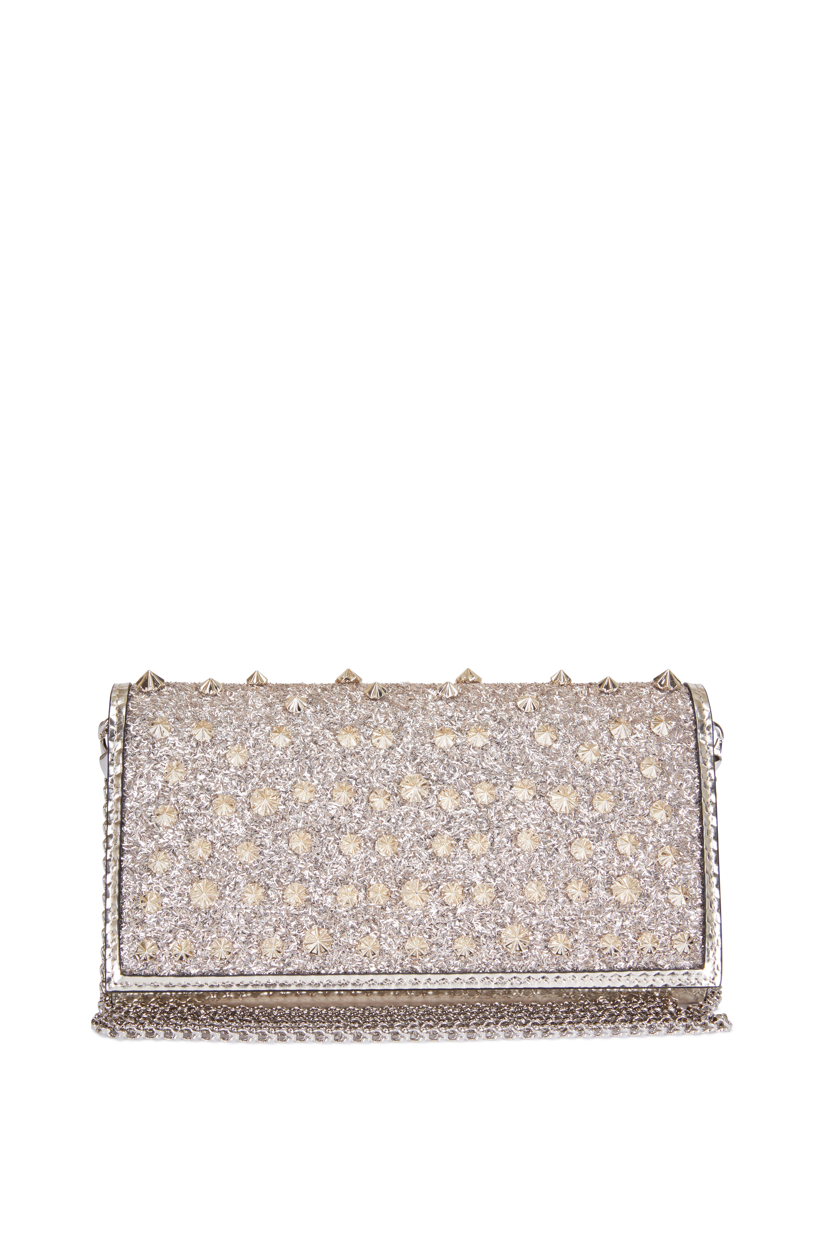 053c71e31f2 Christian Louboutin - Boudoir Gold Frosted Glitter Leather Chain ...