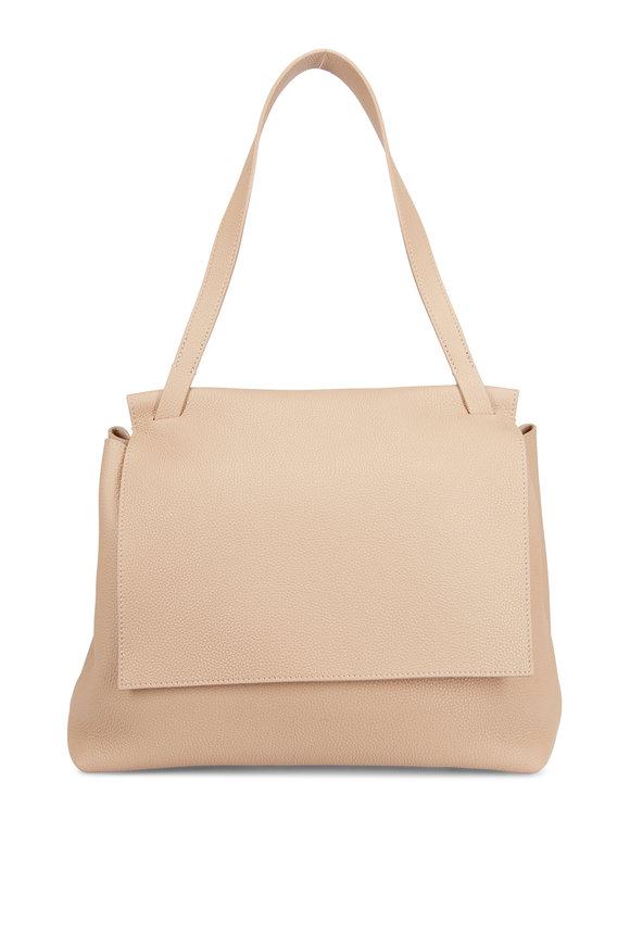 The Row Sidekick Light Camel Grained Leather Crossbody Bag