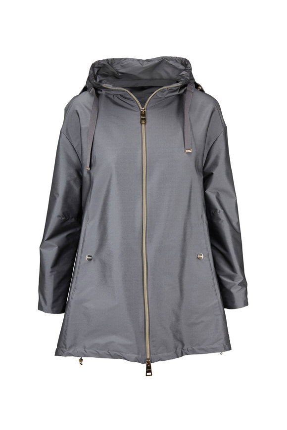 Herno Silver A-Line Hooded Raincoat