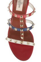 Valentino Garavani - Rockstud Red Multi Leather City Mule, 60mm