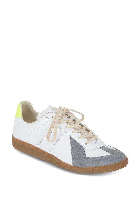 Maison Margiela Replica White With Gray & Yellow Sneaker