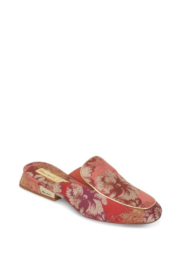 Santoni Degas Pink Brocade Rubelli Mule