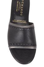Gravati - Black & Silver Perforated Detail Slide
