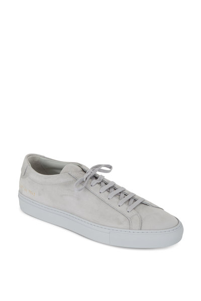 Common Projects - Achilles Light Gray Suede Low Top Sneaker