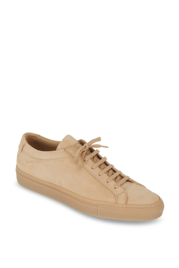 Common Projects Achilles Tan Suede Low Top Sneaker