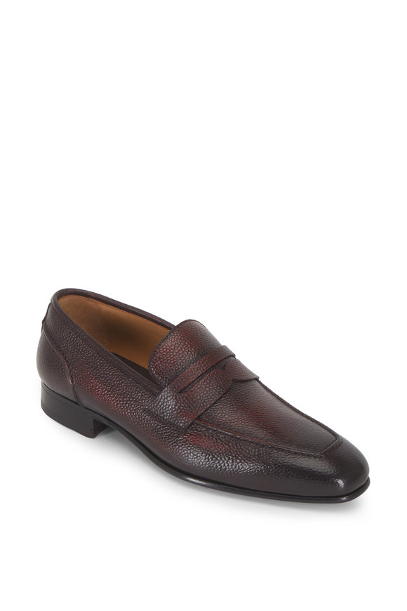Di Bianco Martin Burgundy Burnished Penny Loafer