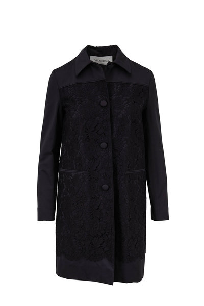 Valentino - Black Floral Lace Coat
