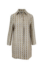 Valentino - Tussah Ivory & Gold V Brocade Coat