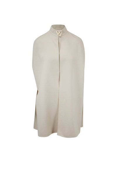Valentino - Almond Double-Faced Wool Cape