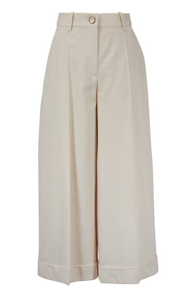 Valentino - Almond Stretch Wool Gabardine Pant