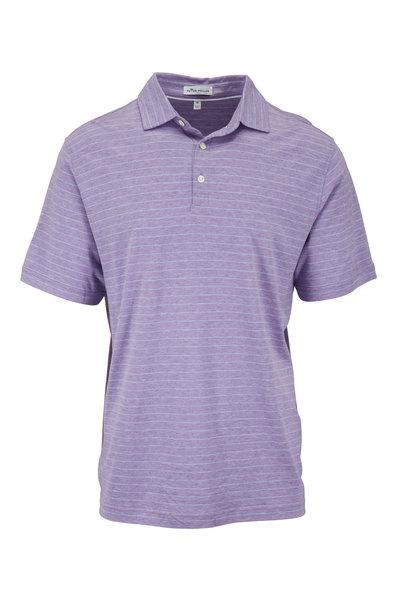 Peter Millar - Crown Cool Light Purple & Blue Striped Polo