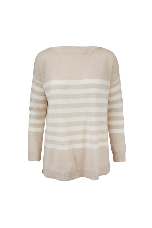Raffi  Oat Striped Cashmere Sweater