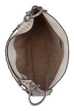 Bottega Veneta - Mist & Mink Intrecciato & Snakeskin Loop Bag