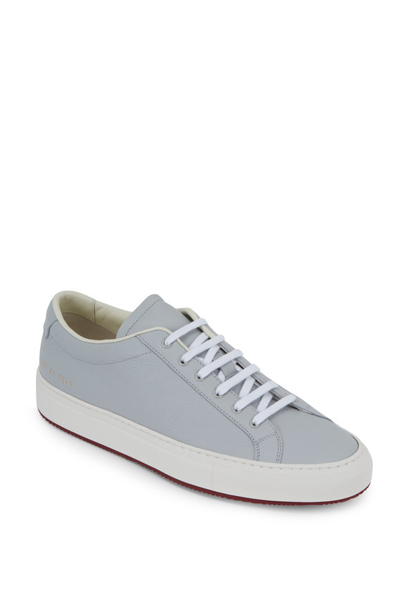 Common Projects Achilles Light Gray Leather Sneaker