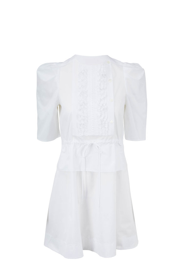 See by Chloé White Cotton Ruffle Dress