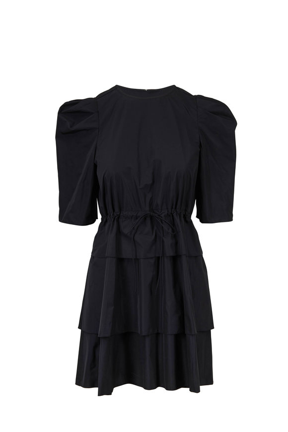 See by Chloé Black Drawstring Waist Dress