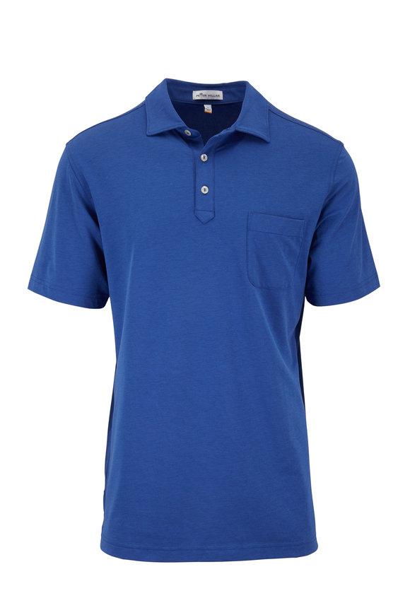 Peter Millar Dark Blue Piqué Short Sleeve Polo