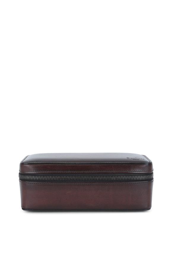 Berluti Venezia Brown Leather Travel Watch Case