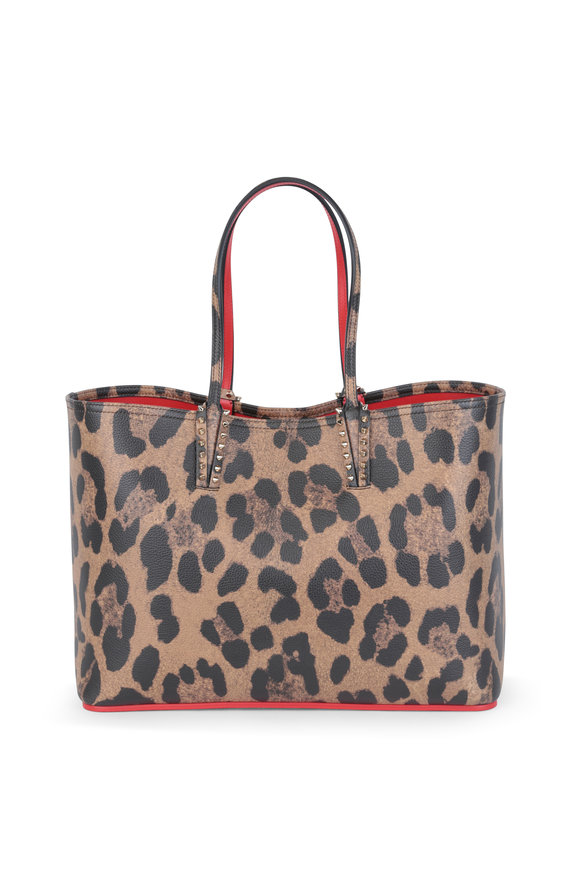 Christian Louboutin Cabata Leopard Print Leather Small Tote