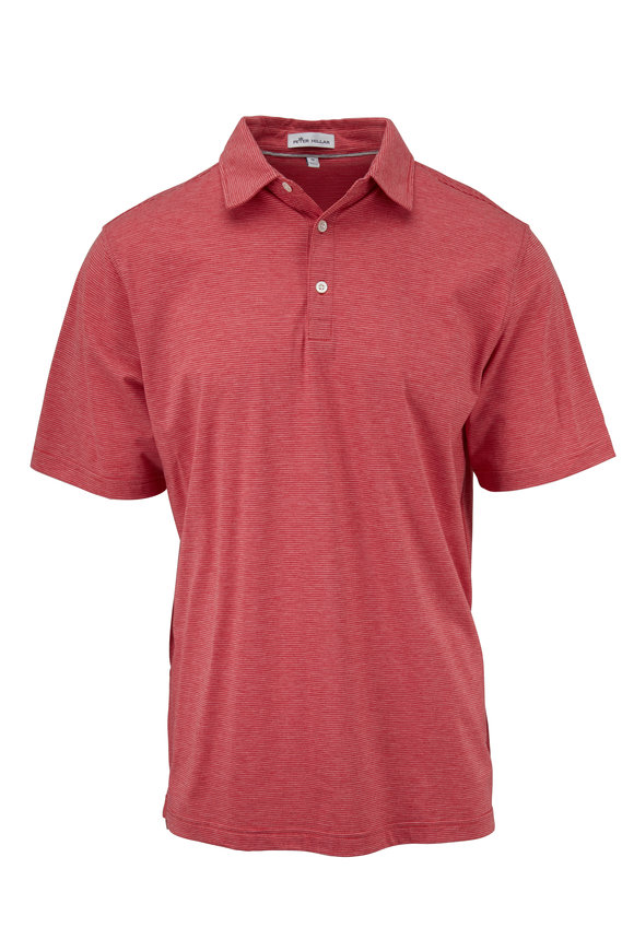 Peter Millar Crown Soft Red Striped Polo