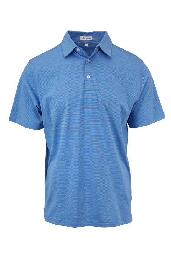 Peter Millar Crown Soft Blue Soft Striped Polo