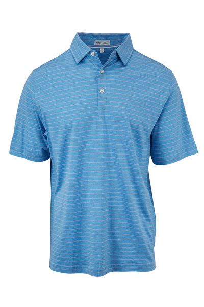 Peter Millar - Crown Cool Blue & Pink Striped Polo