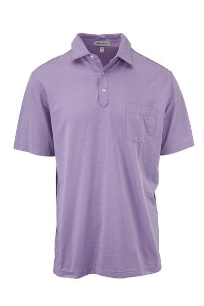 Peter Millar - Clutch Purple Piqué Pocket Polo