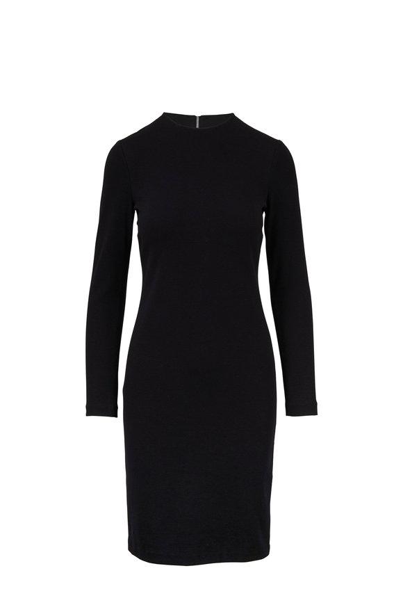 Vince Black Three-Quarter Sleeve Pencil Dress