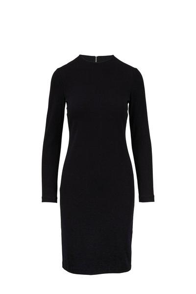 Vince - Black Three-Quarter Sleeve Pencil Dress