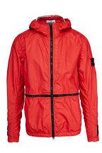 Stone Island - Membrana 3L-TC Red Nylon Three-Layer Hooded Jacket