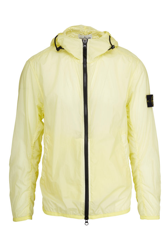 Stone Island Lamy Velour Lemon Hyper Light Hooded Jacket