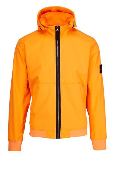 Stone Island - Orange Nylon Hooded Jacket