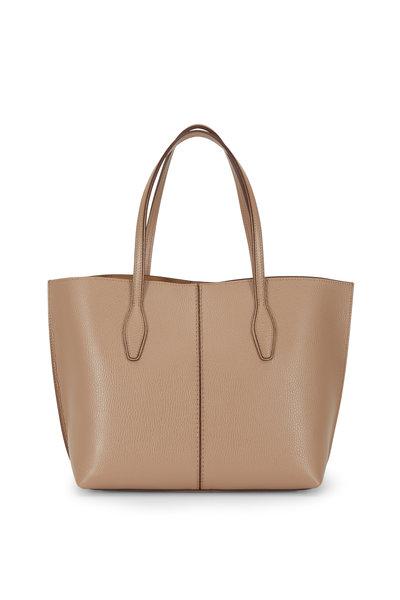 Tod's - Joy Tobacco Pebbled Leather Medium Shoulder Bag