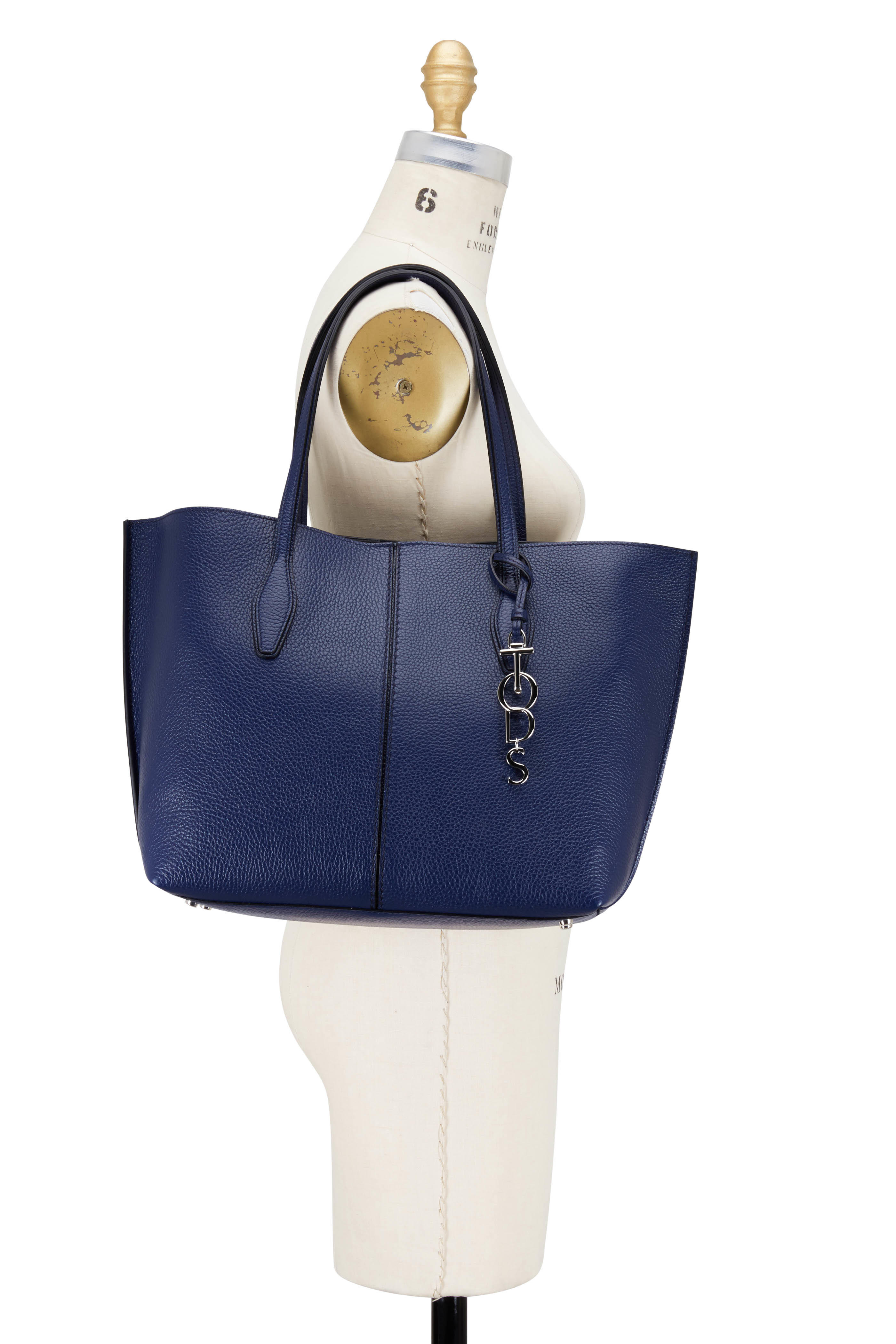 3bb630c1ff Tod's - Joy Blue Pebbled Leather Medium Shoulder Bag | Mitchell Stores